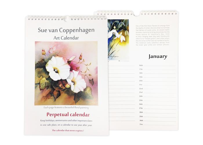 13. Sue Van Coppenhagen Calendar